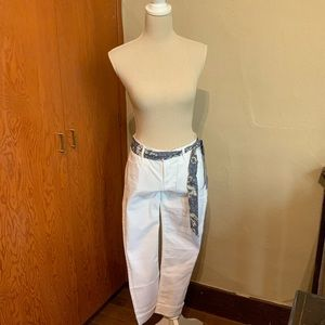 KENSIE Jeans white 5-pocket ankle-length stretch